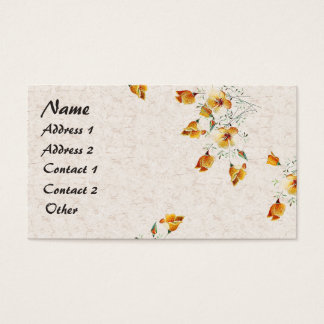 California Poppy Wildflower Flowers Business Card