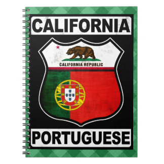 California Portuguese American Notepad Notebook