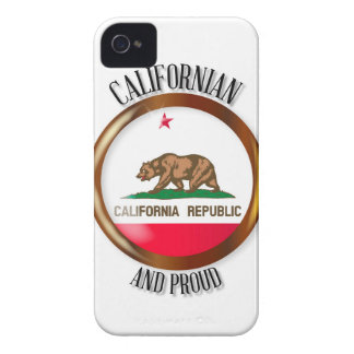 California Proud Flag Button iPhone 4 Cover