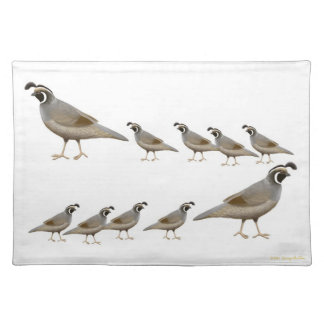 California Quail Family Placemat
