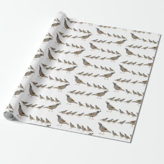 California Quail Family Wrapping Paper