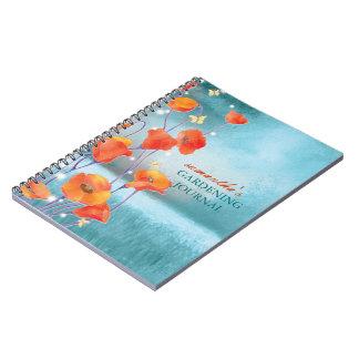 California Red Poppy Gardening Journal Notebooks