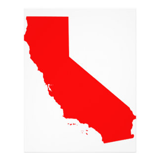 California Red State 21.5 Cm X 28 Cm Flyer