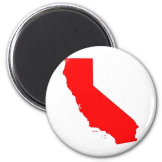 California Red State Fridge Magnet