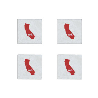 CALIFORNIA RED STATE STONE MAGNET