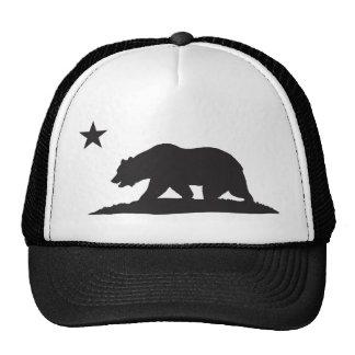 California Republic Bear - Black Mesh Hats