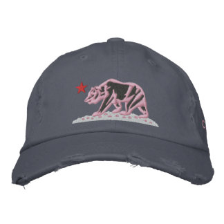 CALIFORNIA REPUBLIC BEAR Embroidered Cap