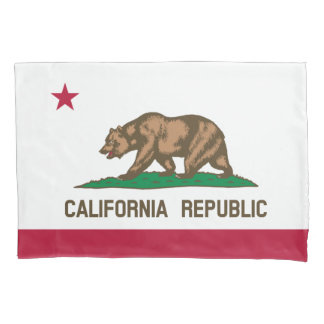 California Republic bear flag pillowcase