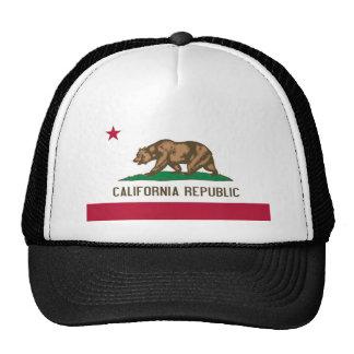 California Republic Bear State Flag Hat