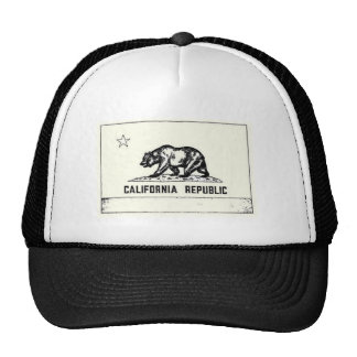 california republic black n white cap