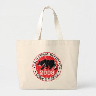 california republic born raised 2008 canvas bag