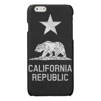 CALIFORNIA REPUBLIC Chrome on Carbon Fiber Print
