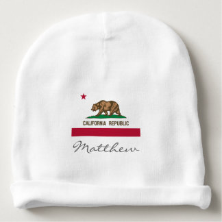 California Republic flag baby hat for boy or girl Baby Beanie
