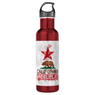 California Republic Flag Bear in Painterly Style 710 Ml Water Bottle