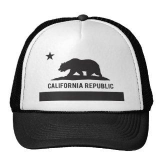 California Republic Flag - Black Hat