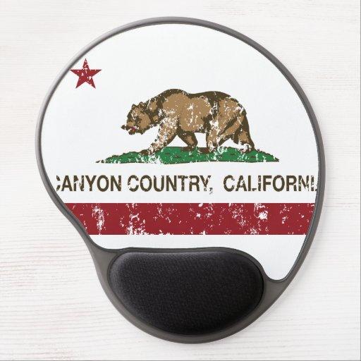 California Republic Flag Canyon Country Gel Mousepads