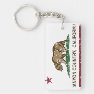 California Republic Flag Canyon Country Rectangular Acrylic Keychains
