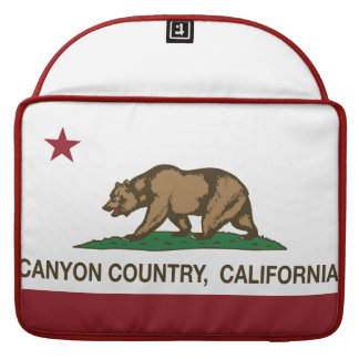 California Republic Flag Canyon Country Sleeve For MacBooks