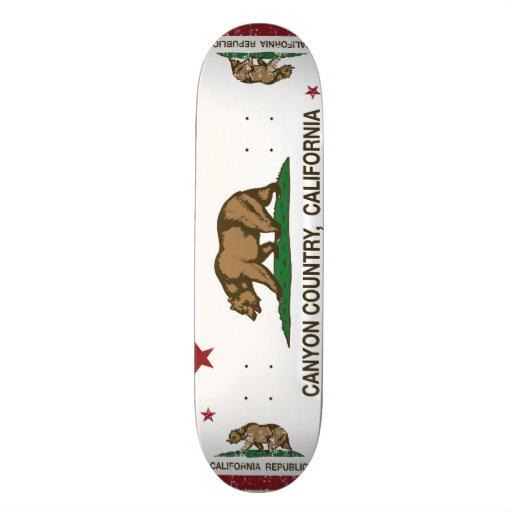 California Republic Flag Canyon Country Custom Skateboard