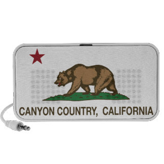 California Republic Flag Canyon Country iPod Speaker