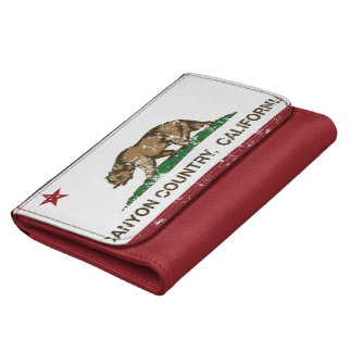 California Republic Flag Canyon Country Wallets For Women
