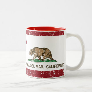 California Republic Flag Corona Del Mar Two-Tone Coffee Mug