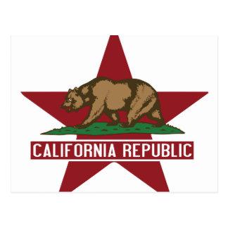 California Republic Flag Customs Postcard