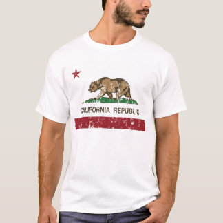 California Republic Flag Distressed Look T-Shirt