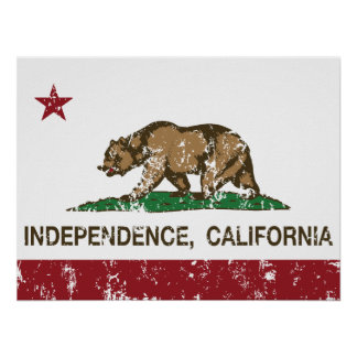California Republic Flag Independence Print