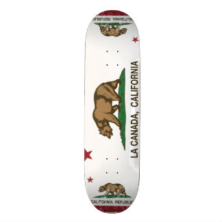 California Republic Flag La Canada Skate Board Deck