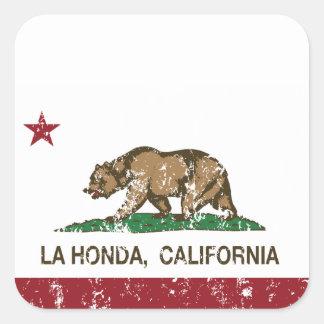 California Republic Flag La Honda Square Stickers