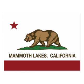 California Republic Flag Mammoth Lakes Postcard