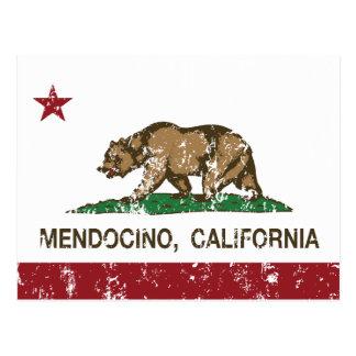 California Republic Flag Mendocino Postcard