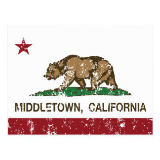 California Republic Flag Middletown Postcard