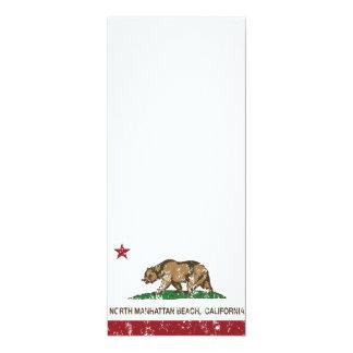 California Republic Flag North Manhattan Beach 10 Cm X 24 Cm Invitation Card