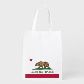 California Republic (Flag of California) Reusable Grocery Bag
