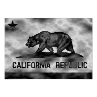 California Republic Flag Plasma Poster