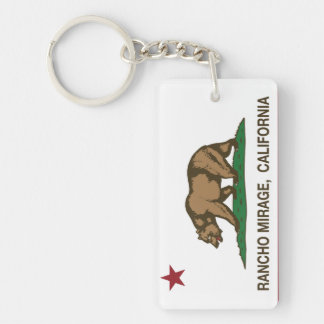 California Republic Flag Rancho Mirage Key Ring