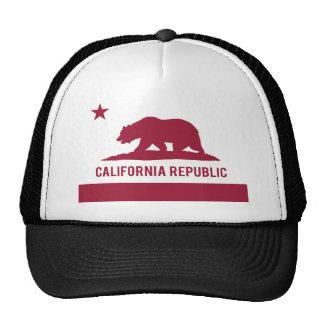 California Republic Flag - Red Hat