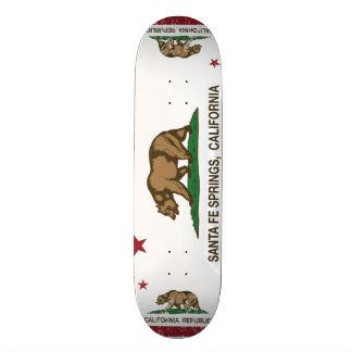 California Republic Flag Santa Fe Springs 19.7 Cm Skateboard Deck