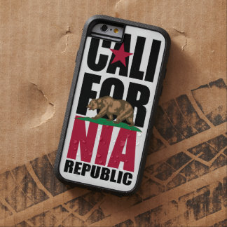 California Republic Flag Stack Tough Xtreme iPhone 6 Case