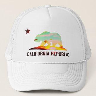 California Republic Flag Sunset Hat