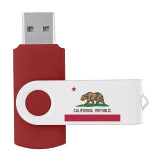 California Republic flag swivel USB flash drive Swivel USB 2.0 Flash Drive