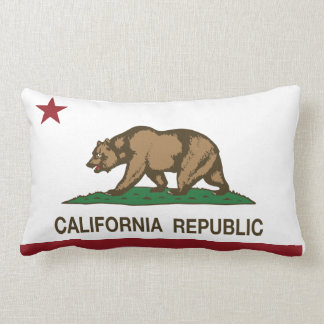 California Republic Flag Throw Cushions