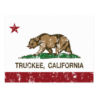 California Republic Flag Truckee Postcard