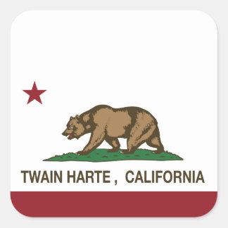 California Republic Flag Twain Harte Square Sticker