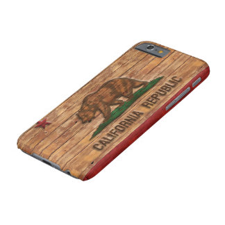 California Republic Flag Vintage Wood Design Barely There iPhone 6 Case