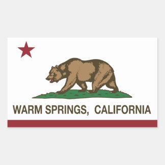 California Republic Flag Warm Springs Rectangular Sticker