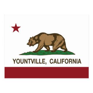 California REpublic Flag Yountville Postcard