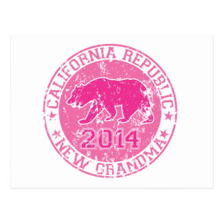 california republic new grandma pink 2014 postcard